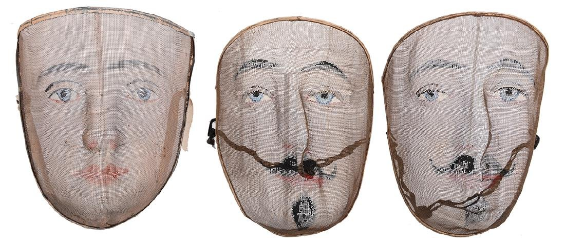Wire Masks Used in Edwin Brush's Mahatma Chair