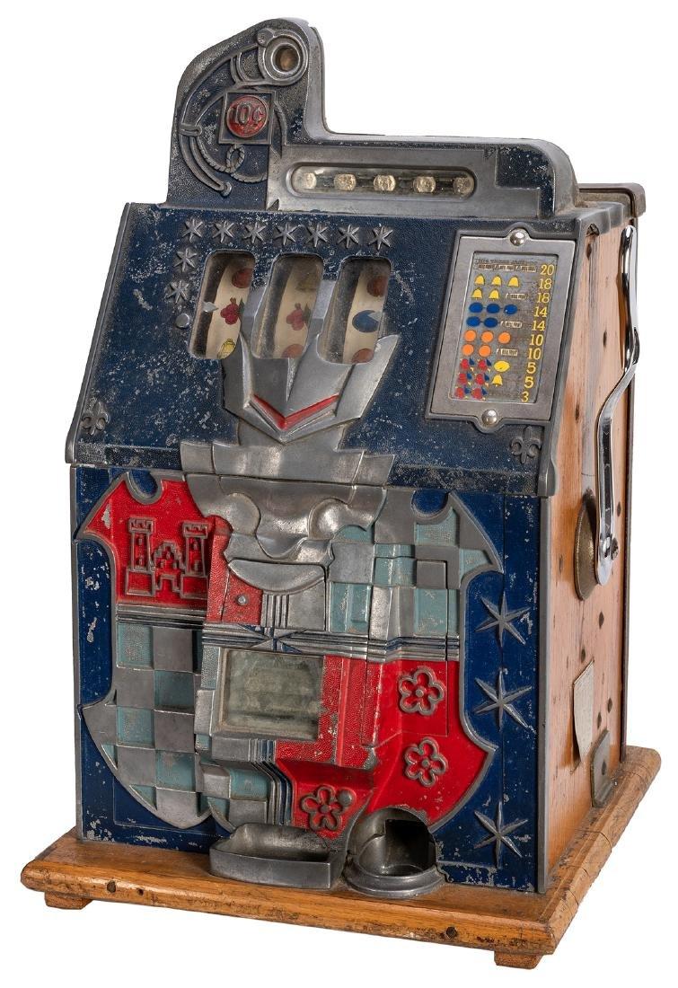 Mills 10 Cent Castle Front Slot Machine.