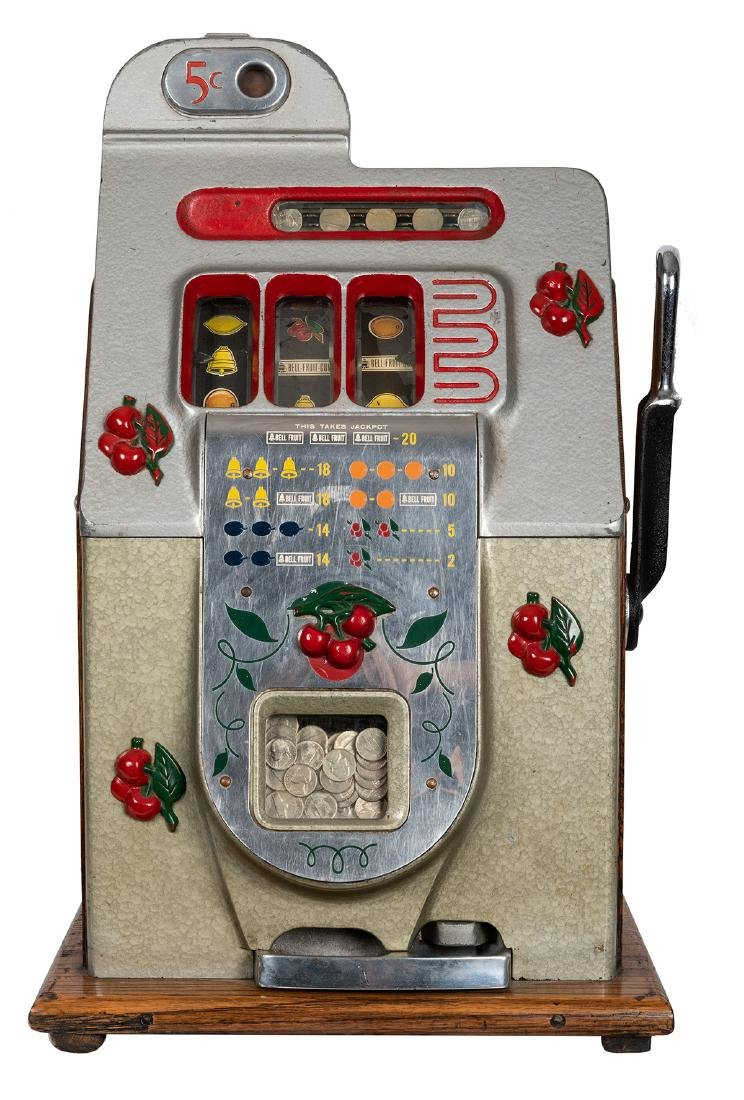 Mills 5 Cent Cherry Front Slot Machine. - 2