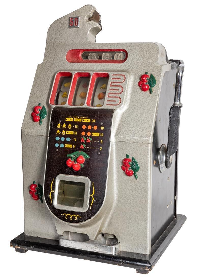 Mills 50 Cent Cherry Front Slot Machine.