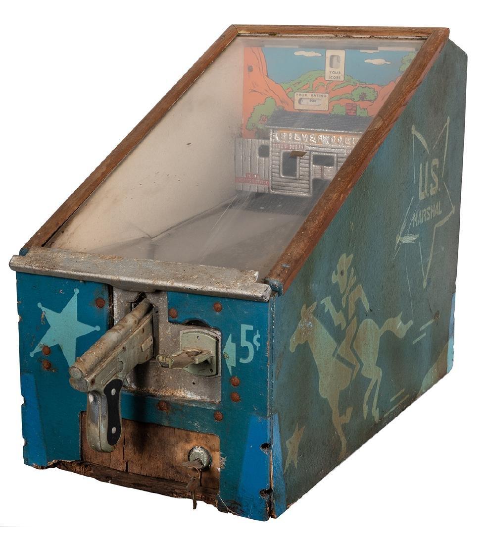 A.B.T. 5 Cent U.S. Marshall Silver Dollar Saloon Target - 2
