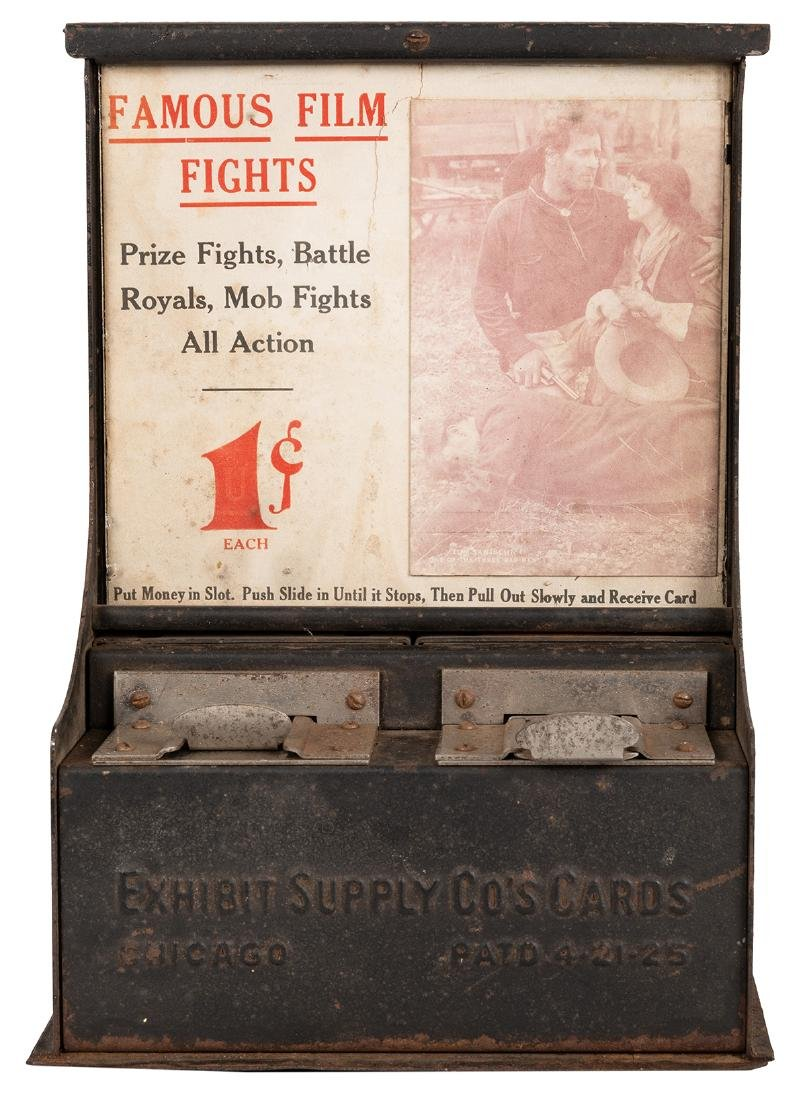 Famous Film Fights Card Vending Machine. - 2