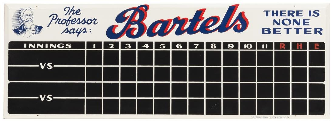 Bartels Beer Scoreboard Sign.