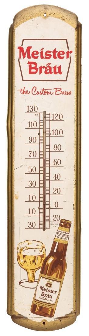 Meister Bräu Advertising Thermometer.