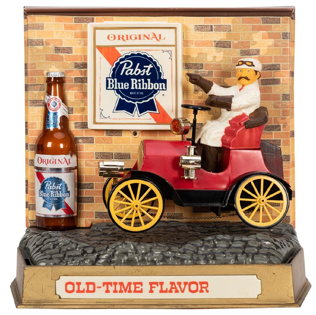 Pabst Blue Ribbon Mechanical Moving Car Countertop