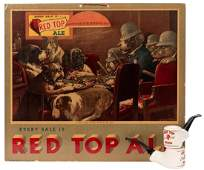 Red Top Beer. Trio of Advertising Pieces.