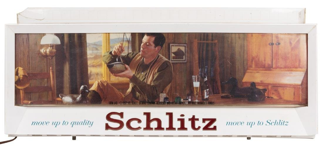 Schlitz Brewing Company. Two Advertising Signs. - 2