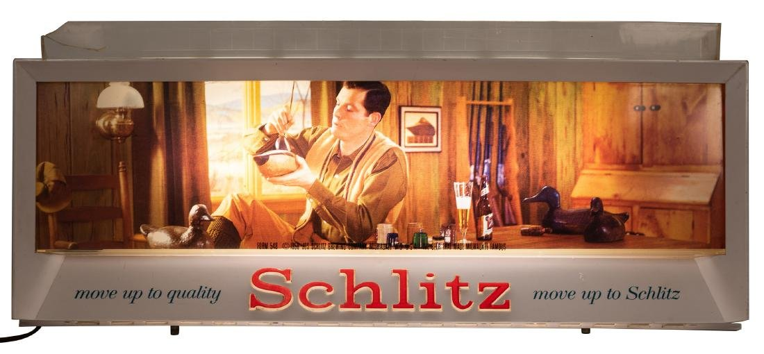 Schlitz Brewing Company. Two Advertising Signs. - 3