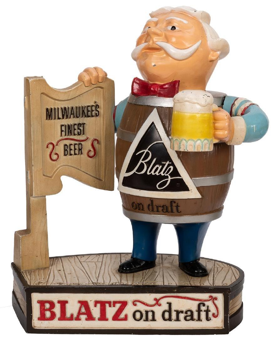 Three Blatz and Heineken Store Display Beer Figures. - 3