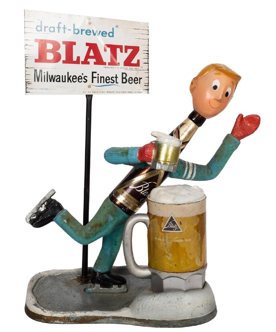 Three Blatz and Heineken Store Display Beer Figures. - 4