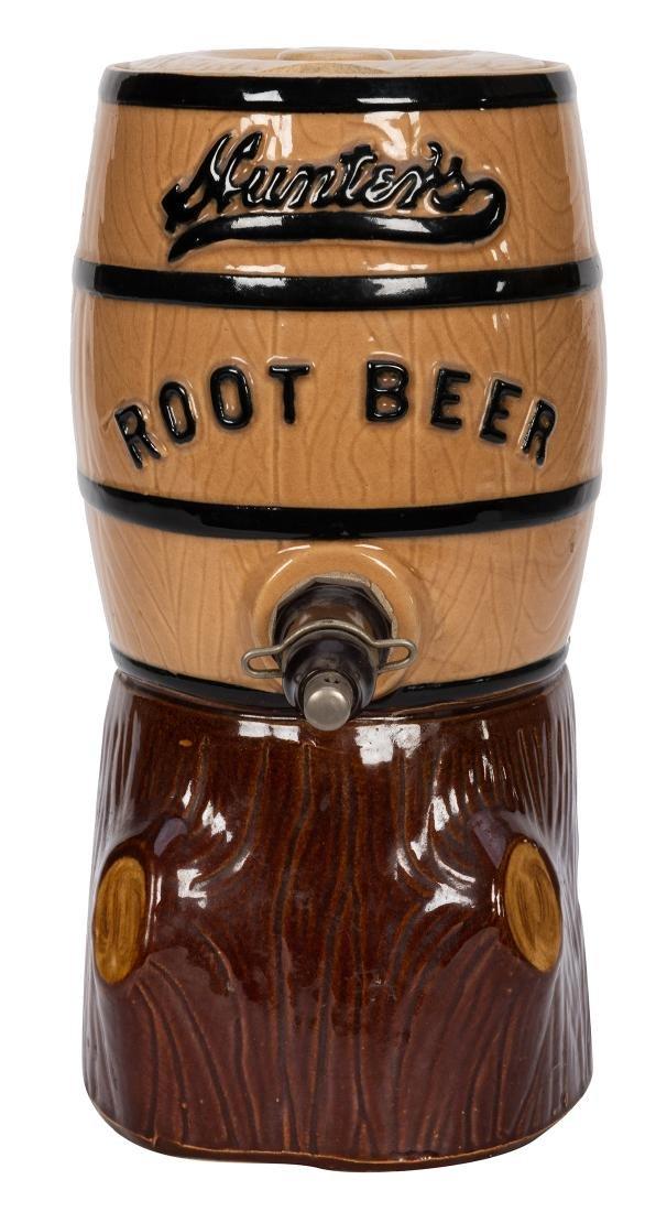 Hunter's Root Beer Syrup Dispenser.