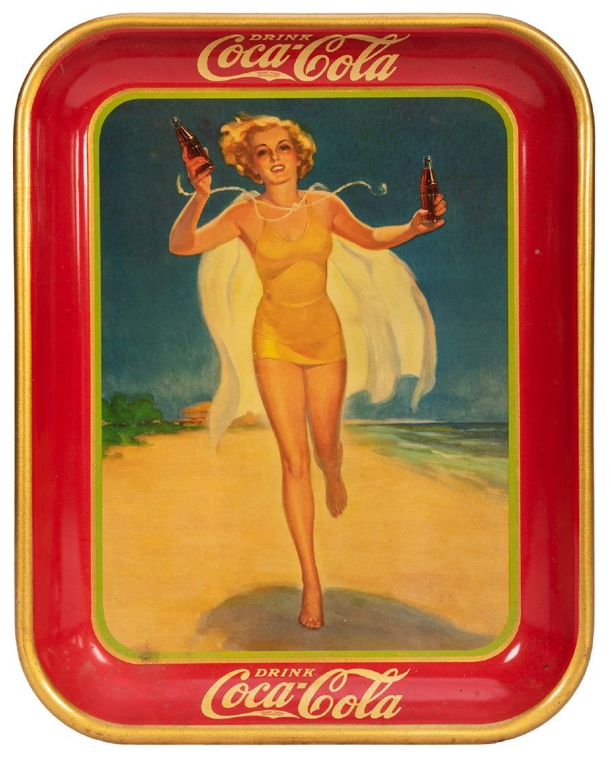 Coca-Cola Advertising Serving Tray.