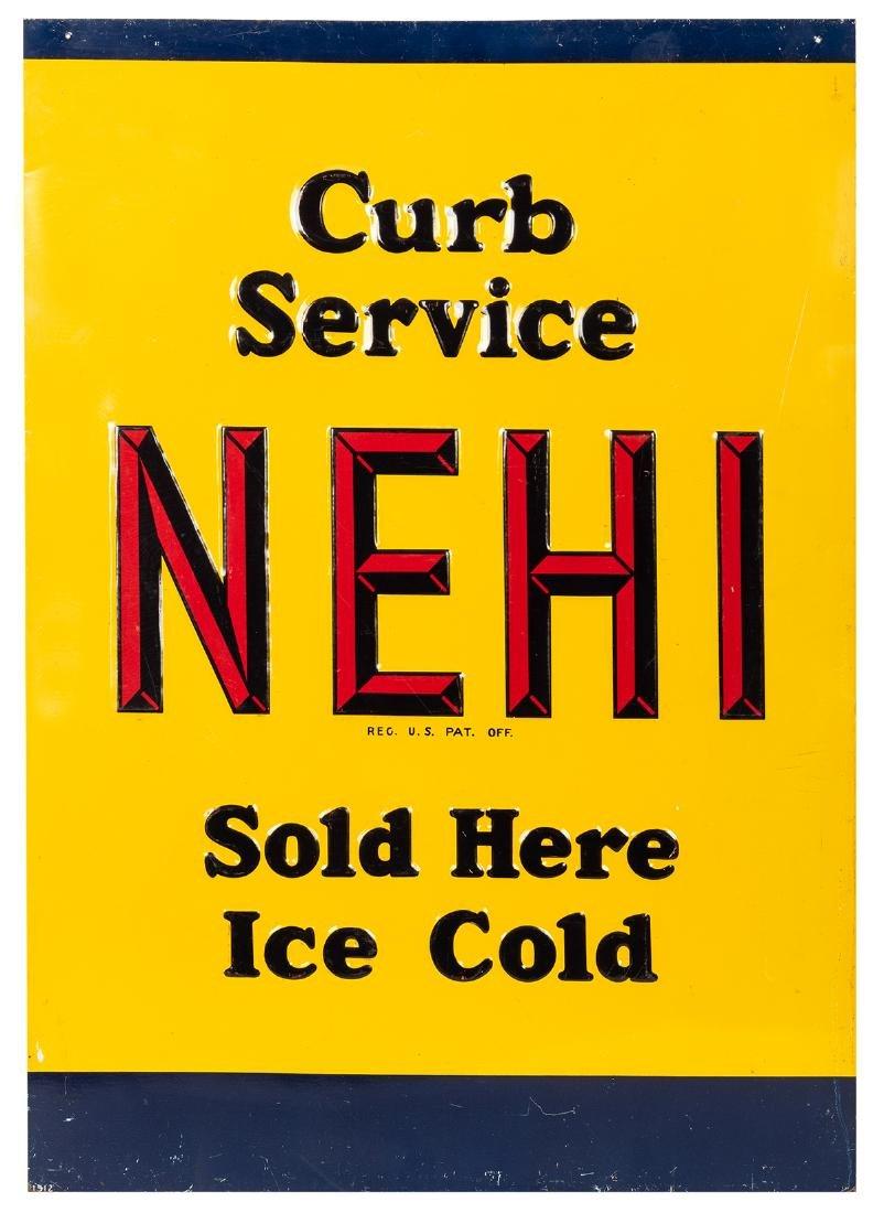 Nehi Embossed Tin Sign.