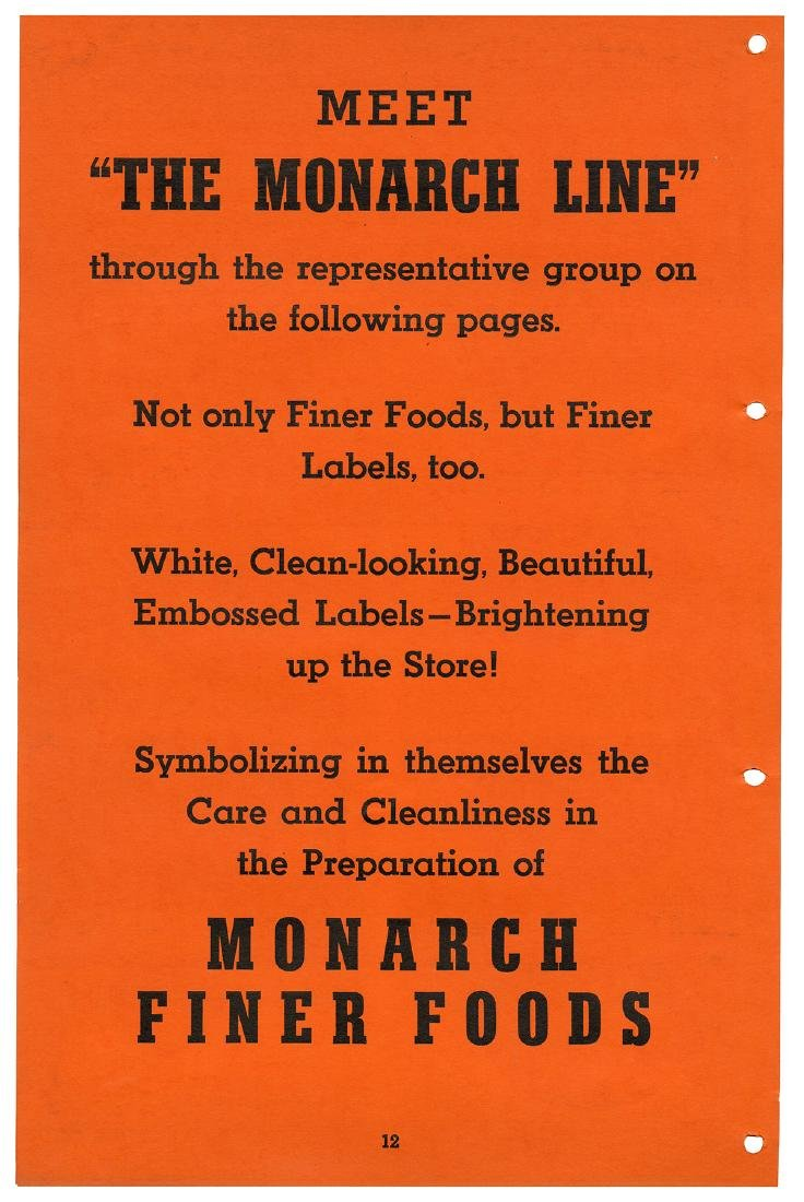 Monarch Finer Foods Salesman Sample Portfolio. - 6