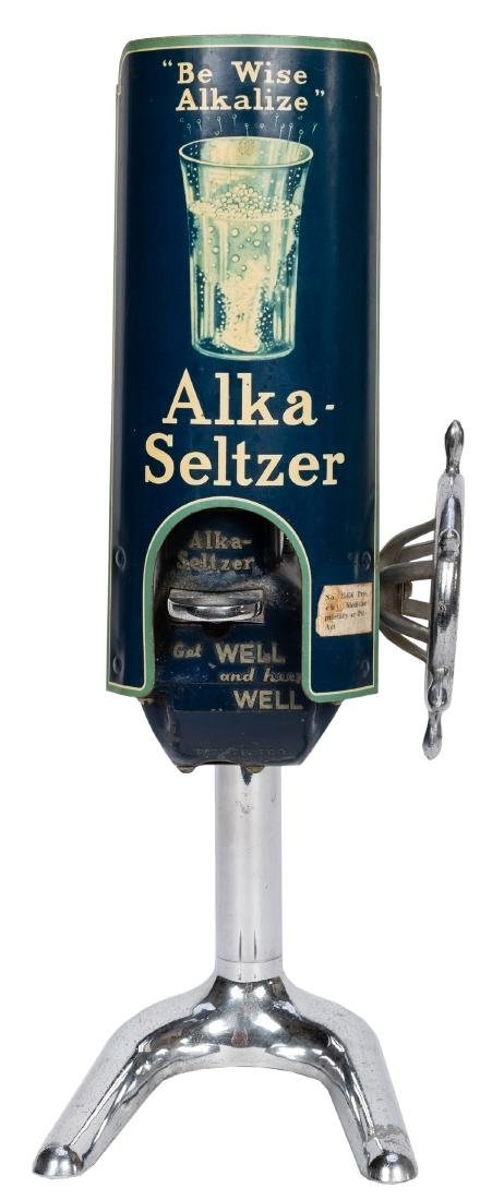 "Alka Seltzer Drug Store Counter Top Dispenser. ""Be Wise"