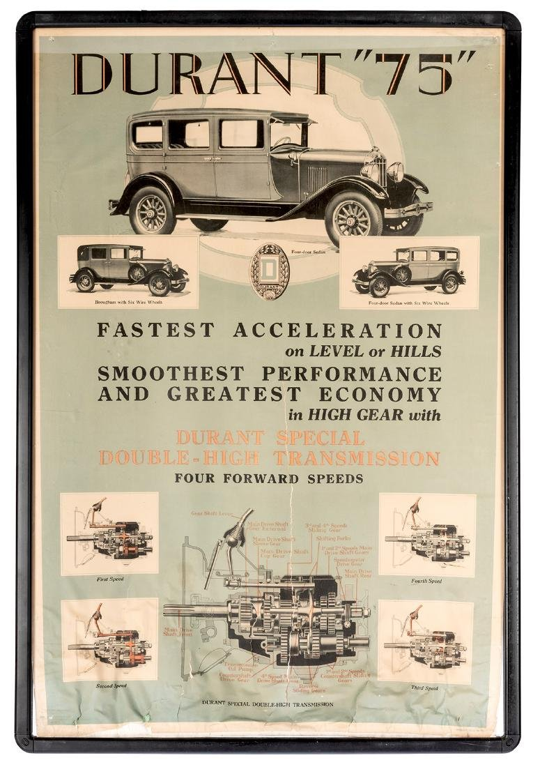 "Durant ""75"" Automobile Advertising Poster."