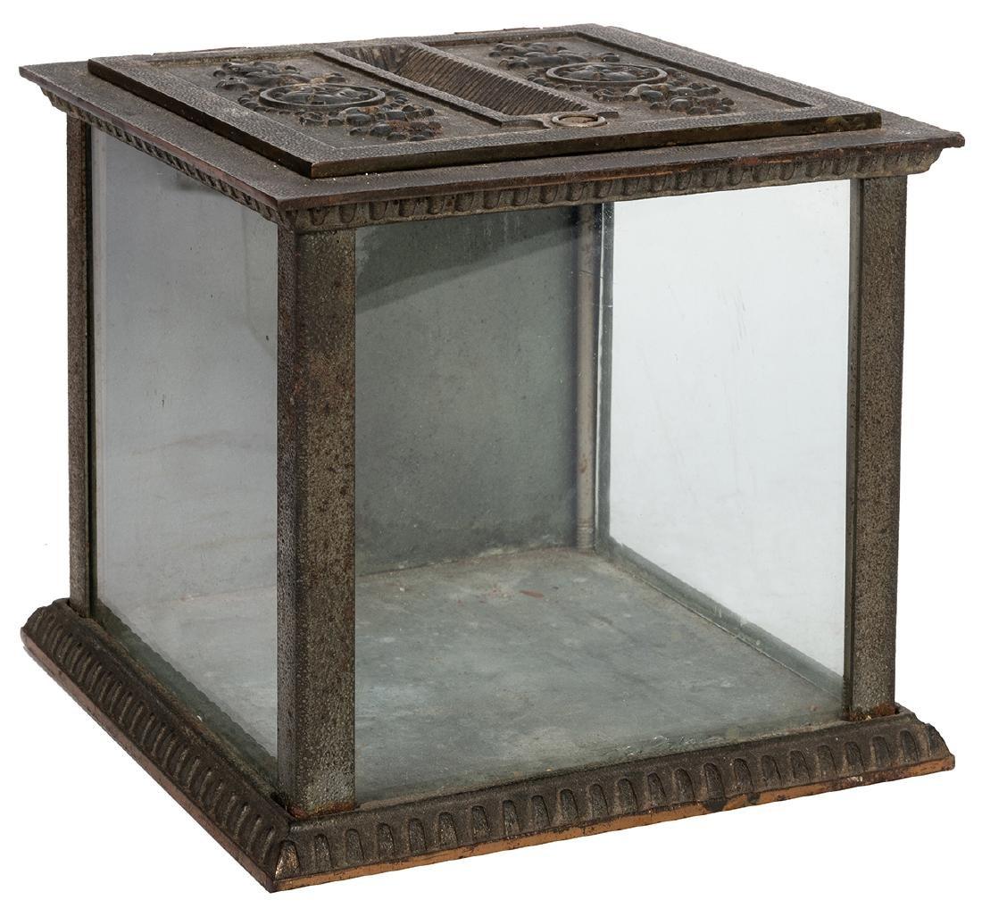 National Cash Register Cast Iron Receipt Box.