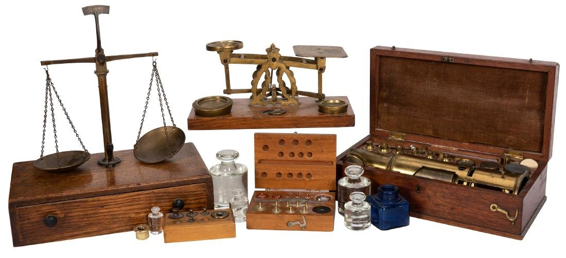 A Group of Torsion Balance Pharmaceutical Scales and