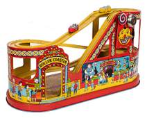 J Chein Tin Litho Roller Coaster Carnival Toy