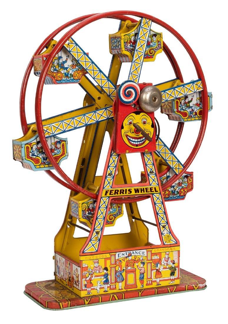 J. Chein Tin Litho Ferris Wheel Toy. - 2