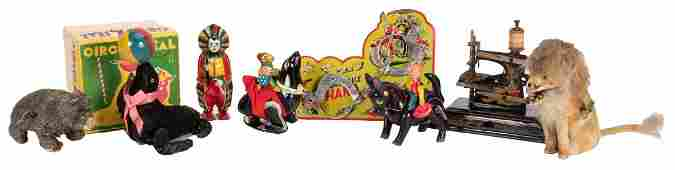 Group of Vintage WindUp and Tin Toys