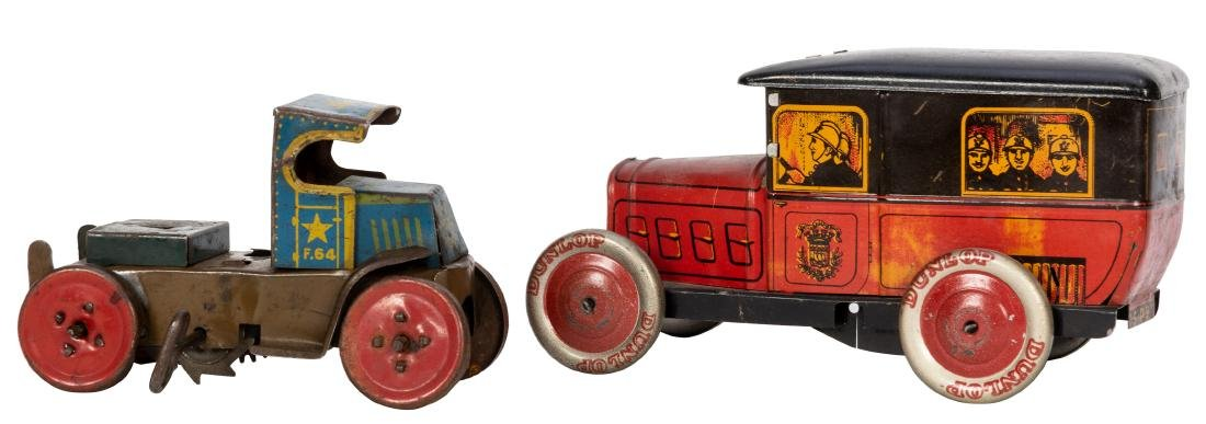 Two Tin Litho Toy Trucks