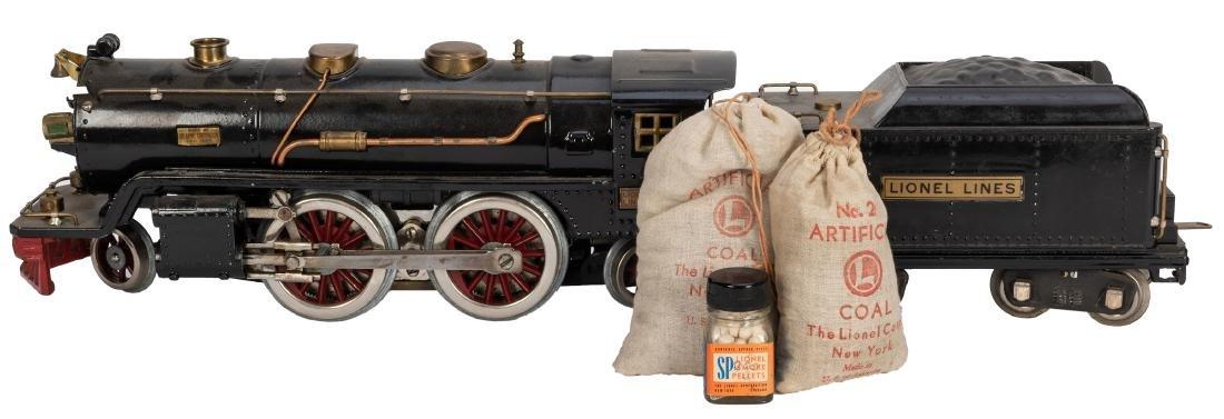 Lionel No. 390E Locomotive and 390T Tender Set.