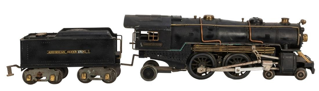 Prewar American Flyer Locomotive and Tender.