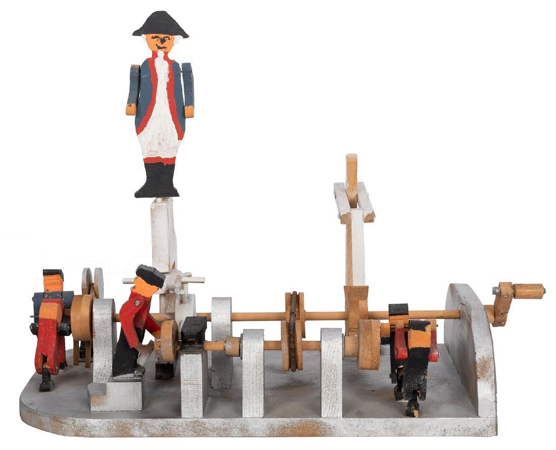 George Washington Wood Folk Art Toy.