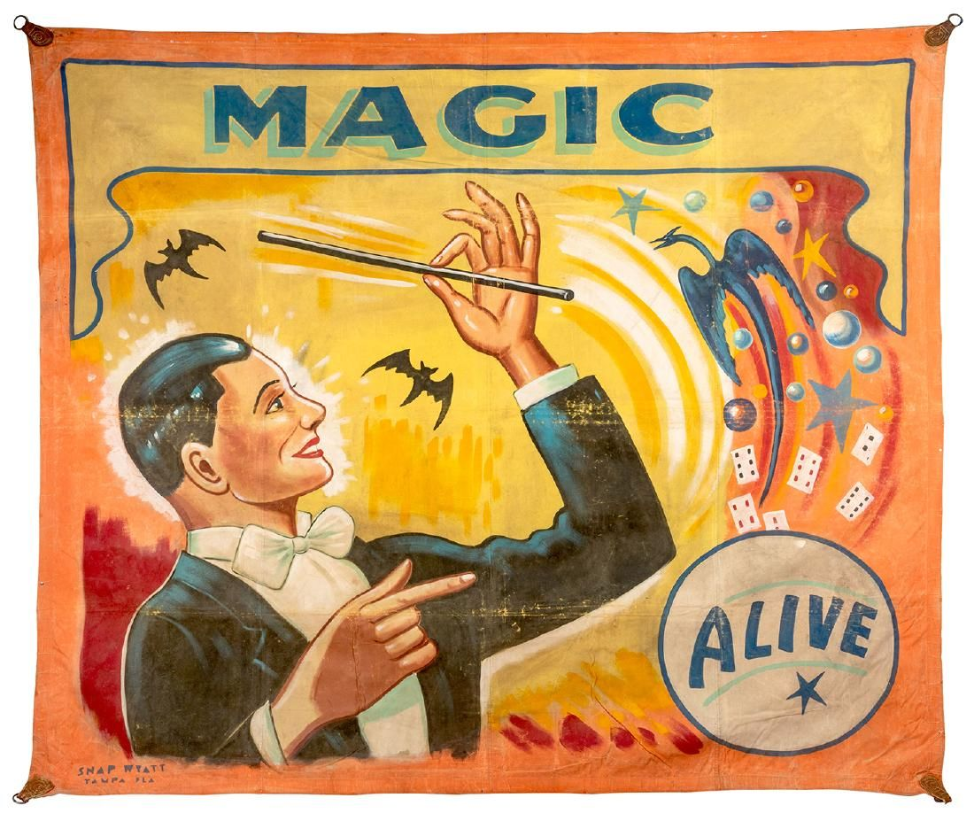 Magic. Alive. Sideshow Banner.