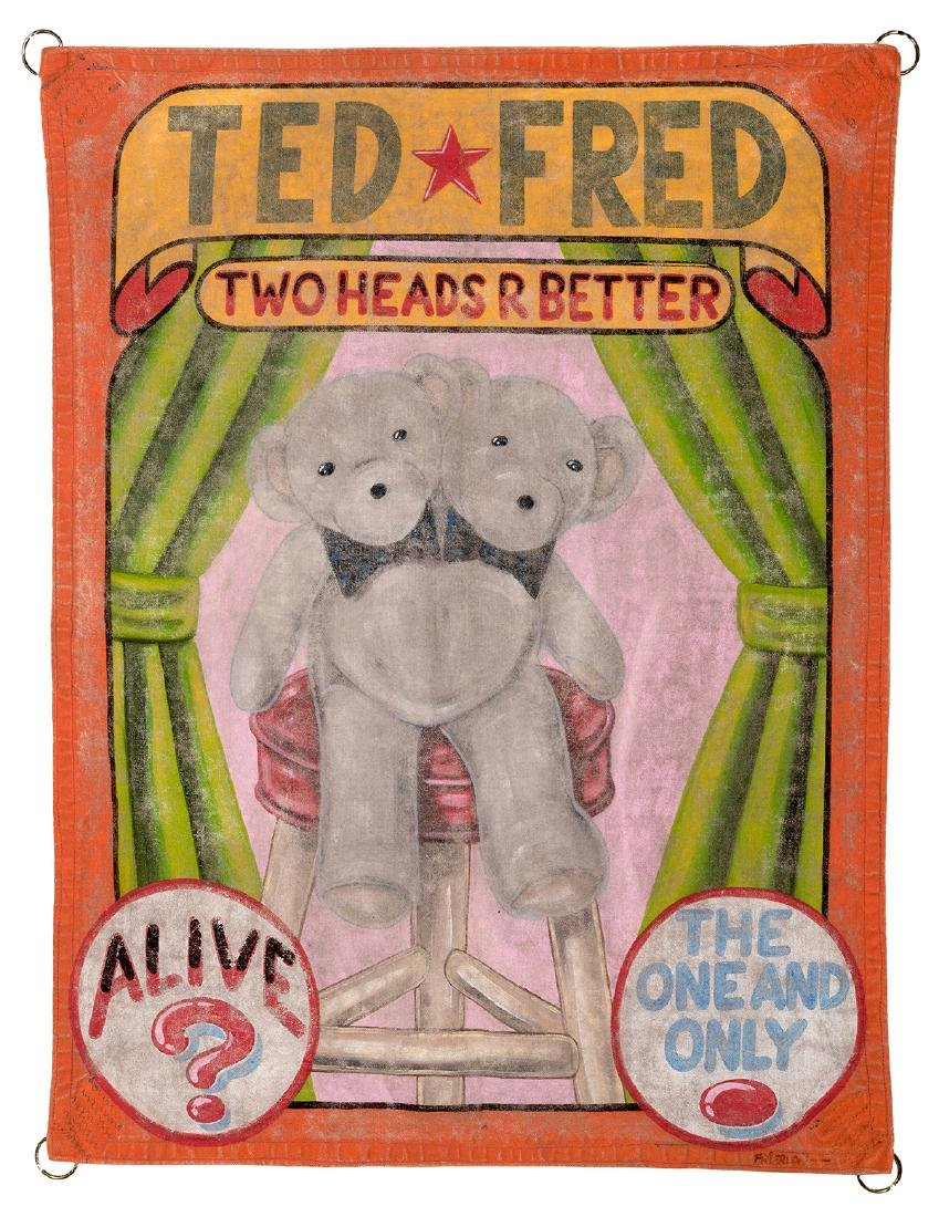 Ted. Fred. Two Heads are Better. Miniature Sideshow