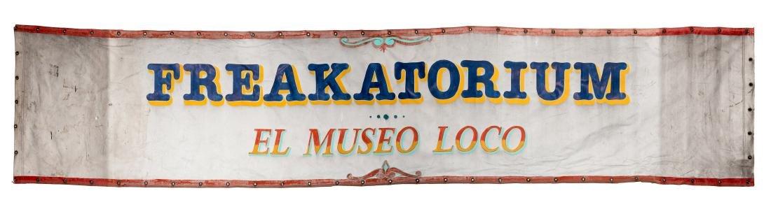 Freakatorium Entrance Banner.