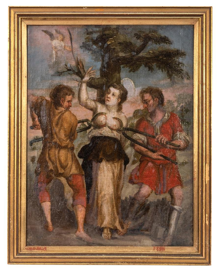 Oil Painting of the Martyrdom of Saint Agatha of Sicily