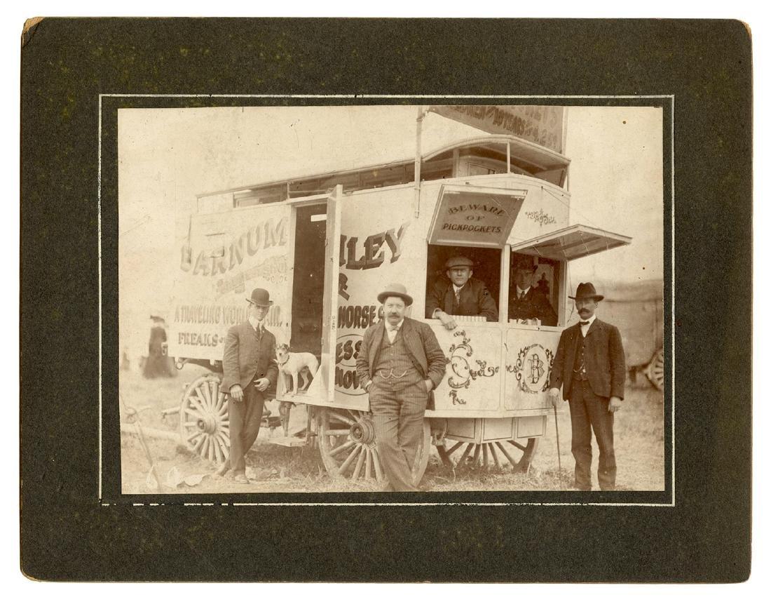 Cabinet Card Photograph of Barnum & Bailey Sideshow