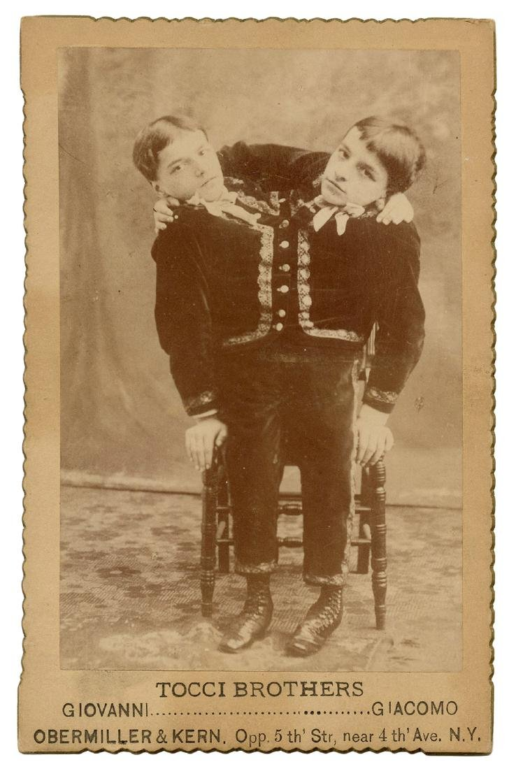 Tocci Brothers Siamese Twins Cabinet Card.