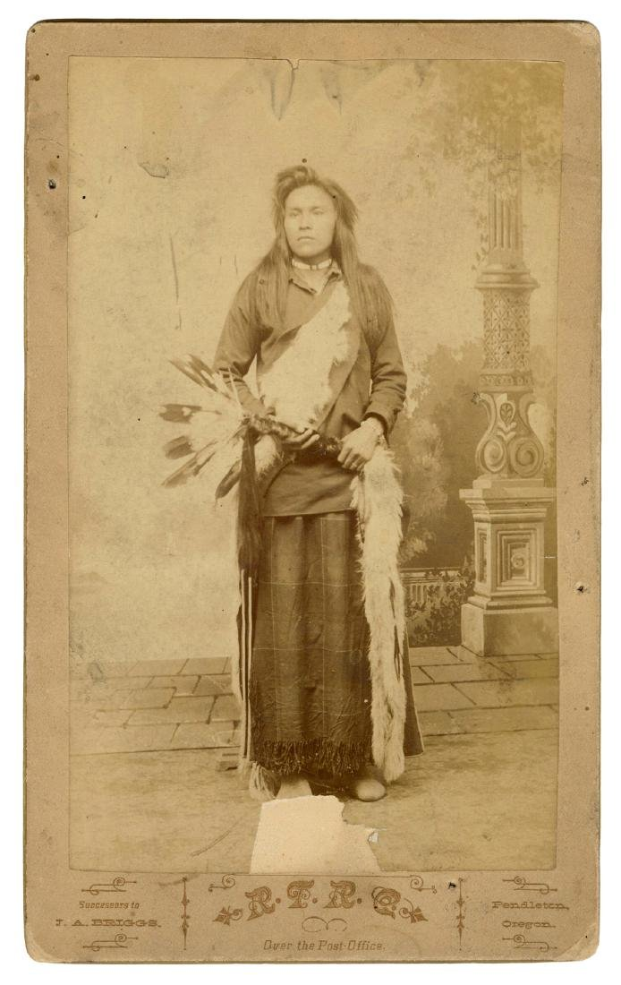 Cabinet Photograph of a Native American Man.