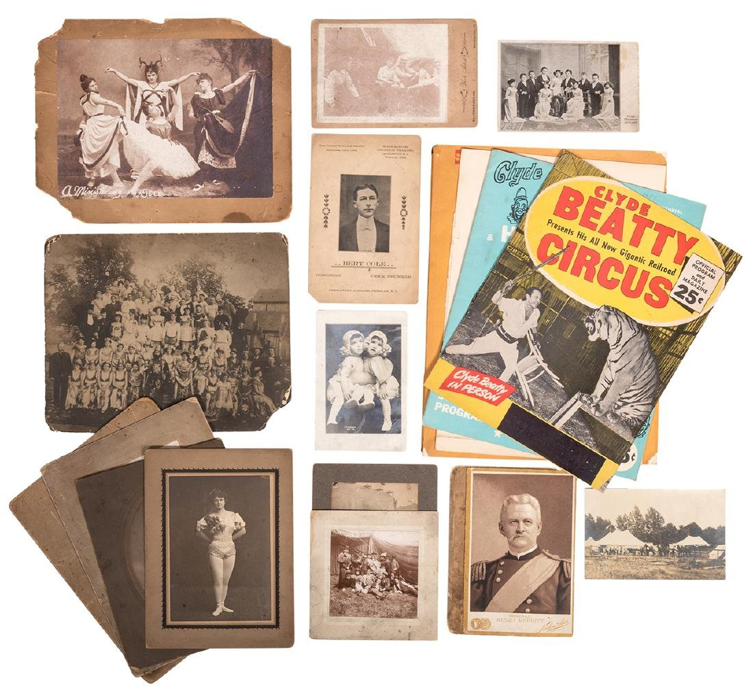 Group of Circus Photographs, Postcards, and Other