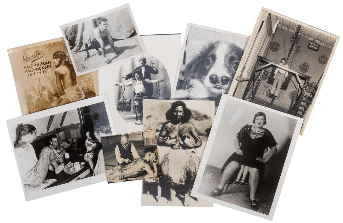 Collection of Vintage Sideshow Photos.