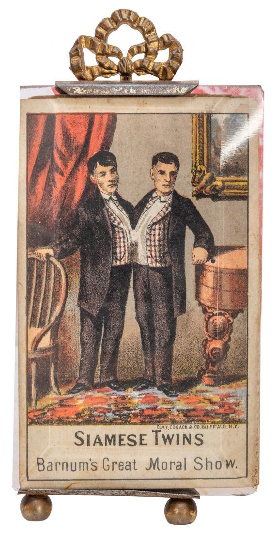 Chang and Eng Advertising Trade Card. The Original