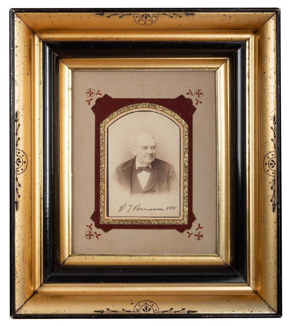 Signed P.T. Barnum Cabinet Card.