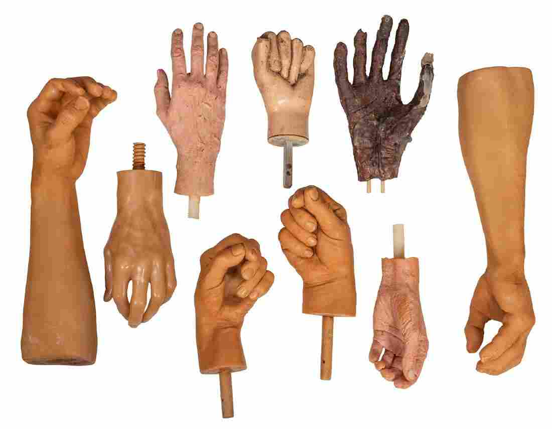 Arms and Hands for Wax Museum Figures.