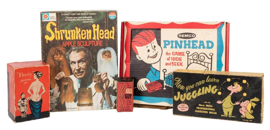 Vincent Price Shrunken Head Kit, with Other Games and