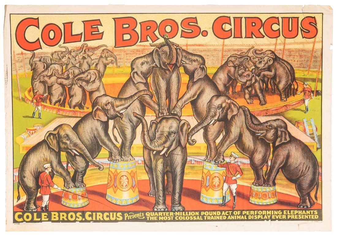 Cole Bros. Circus. Quarter Million Pound Act of