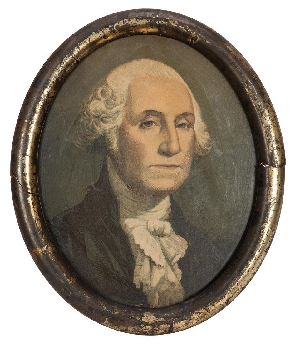 Antique Framed George Washington Print.