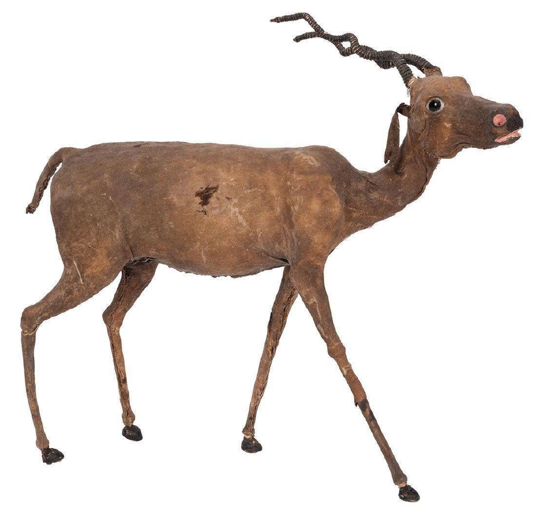 Leather African Gazelle Figure.