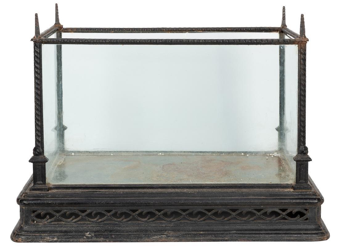 Antique Gothic Revival Cast Iron Terrarium / Aquarium. - 2