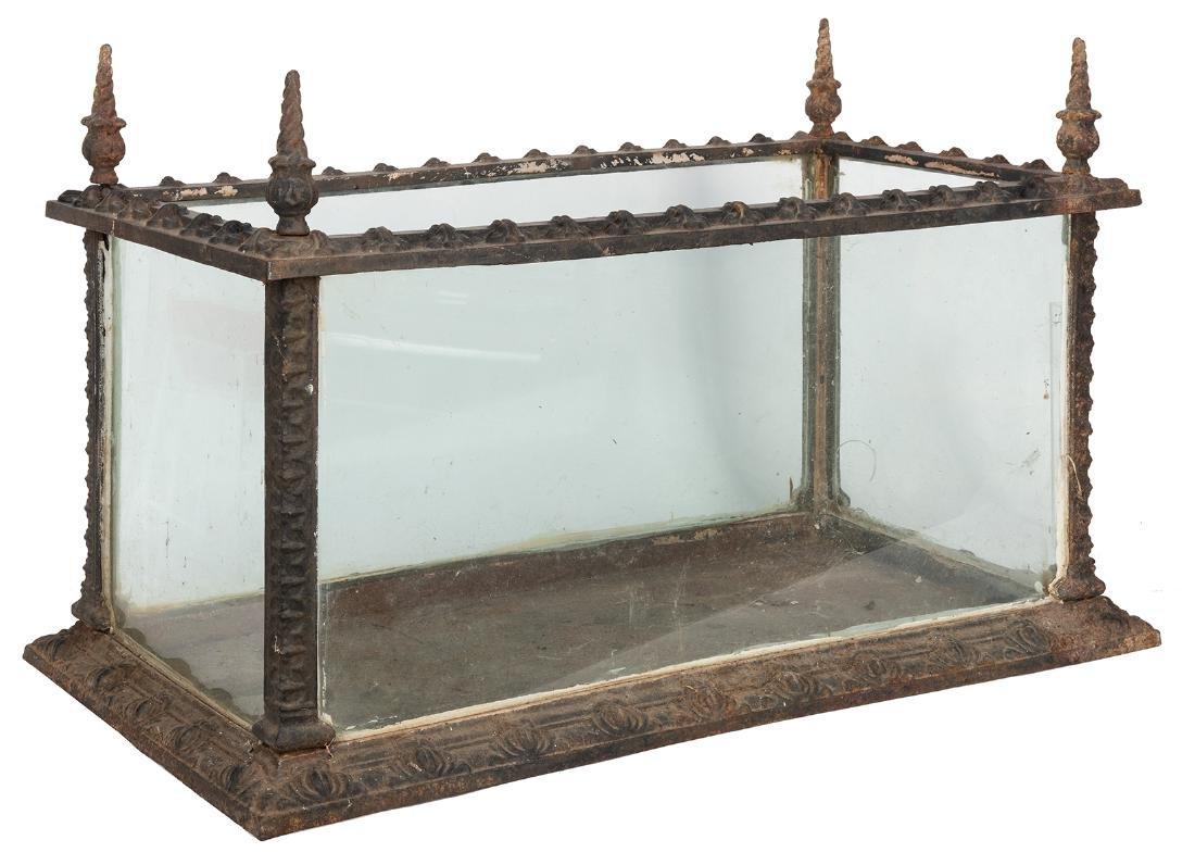 Antique Gothic Revival Cast Iron Terrarium / Aquarium.