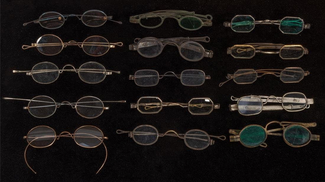 Large Group of Antique Spectacles.