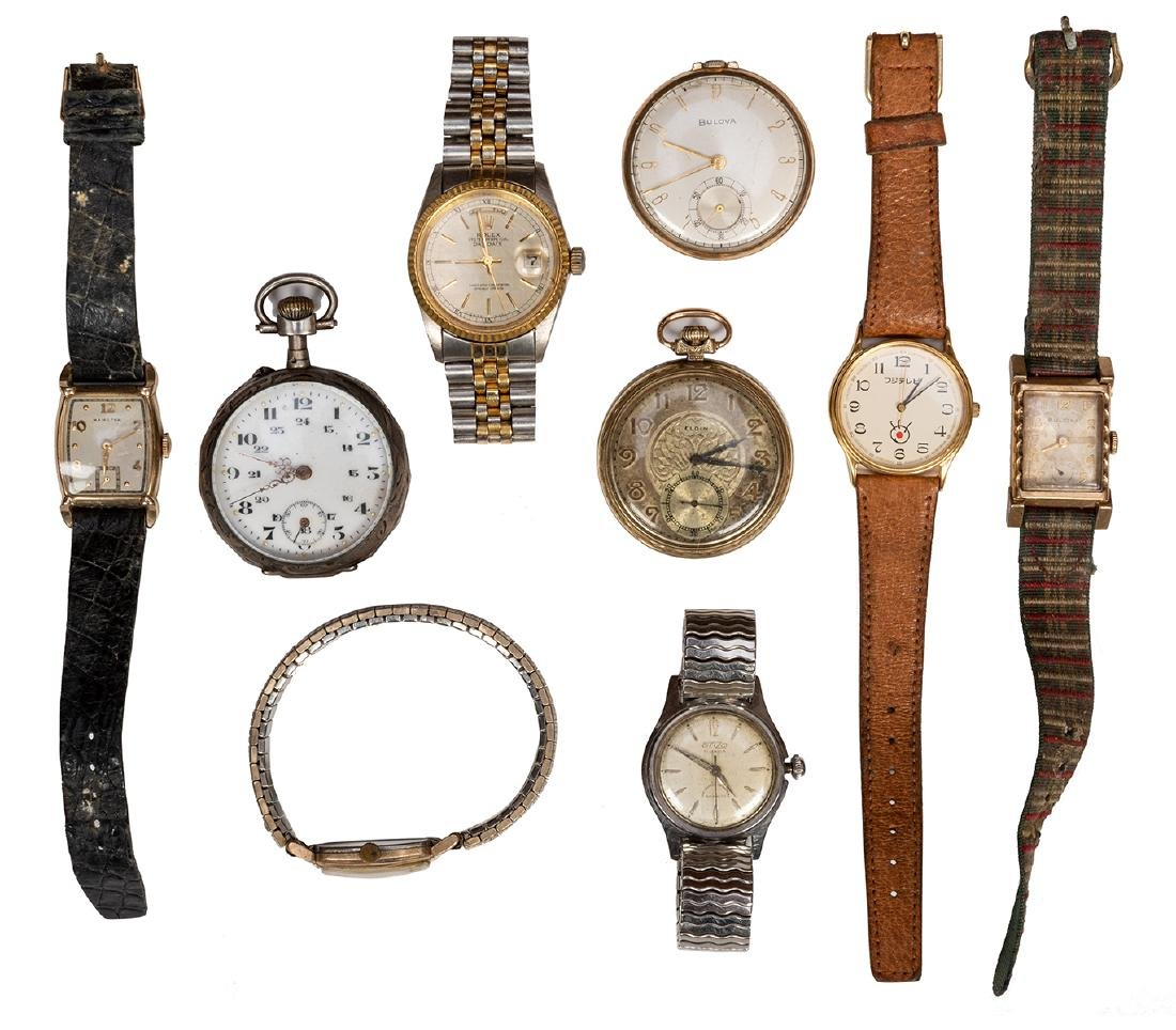 Group of Ten Timepieces.