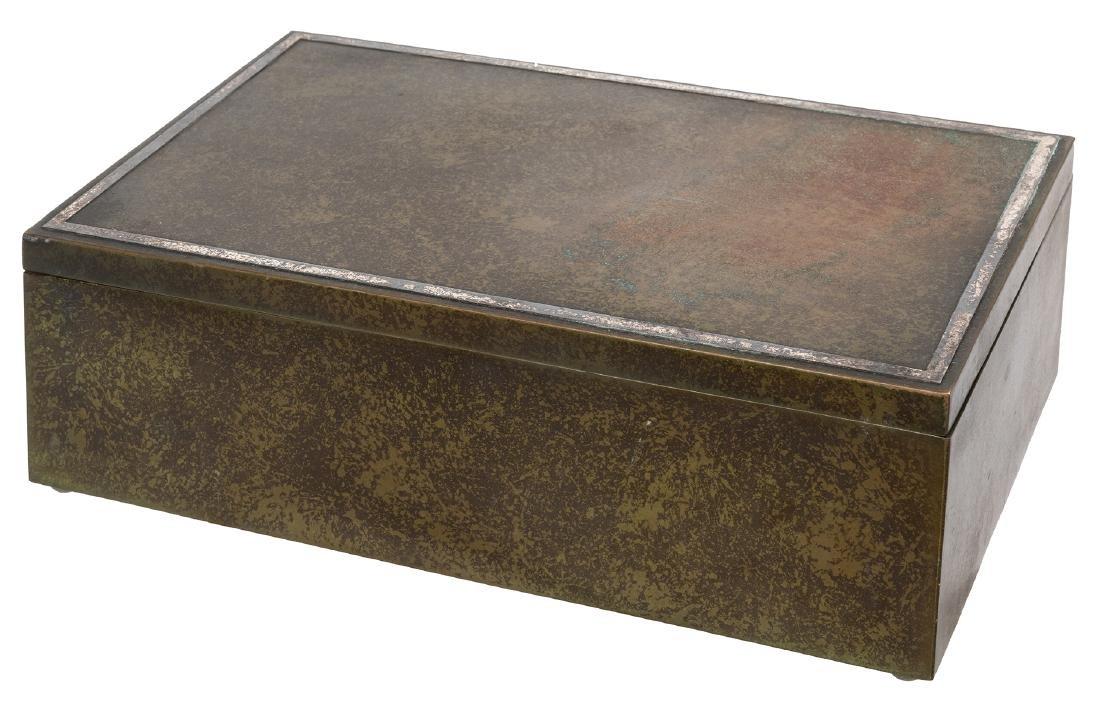 Heintz Arts and Crafts Bronze Humidor - 2